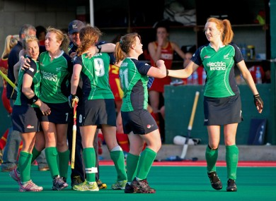Ireland celebrate qualifying for the final.