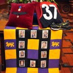 The coffin and guernsey of the Demons legend. (Photo by Alex Coppel-Pool/Getty Images)