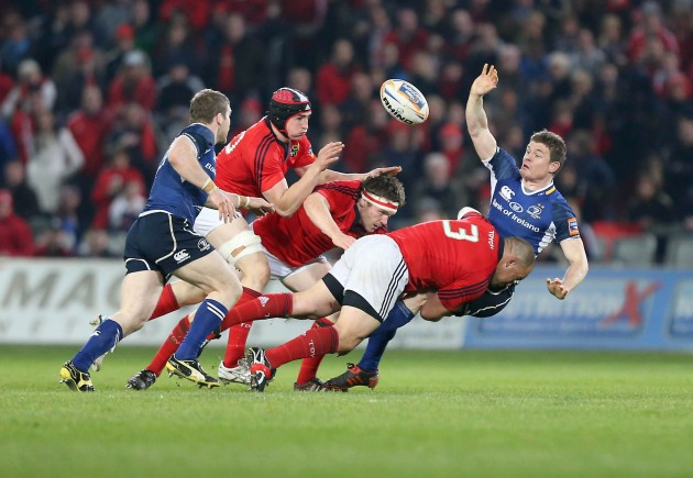 BJ Botha tackles Brian O'Driscoll 31/3/2012
