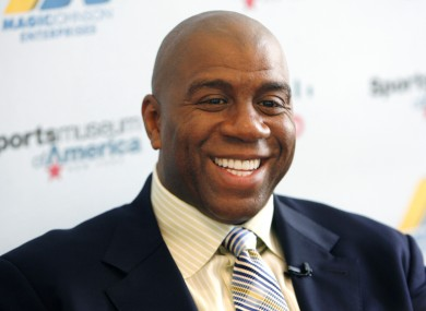 Magic Johnson: led consortium.