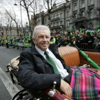 The suave John Giles who was Grand Marshal for the parade today (Sam Boal/Photocall Ireland)