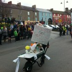 Richard Fahey (@faheyr) spotted this septic tank protest er, float at another parade. 