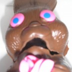 The fact this chocolate bunny is a little blurry only adds to the Munch affect here. Frozen in horror, we can only imagine he knew that his head was about to be bitten off.