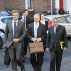 Officials from the EU, ECB and the IMF arrive at the Department of Finance. (Photo: Sasko Lazarov/Photocall Ireland)