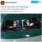 Bernard Brogan and Eamon Fennell go for a ride.