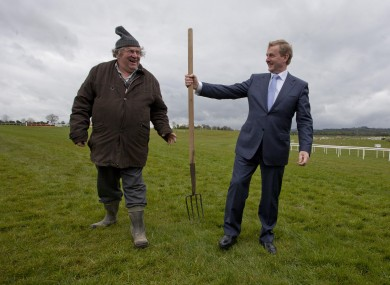 Enda Kenny rocking the wet look at Punchestown on Thursday