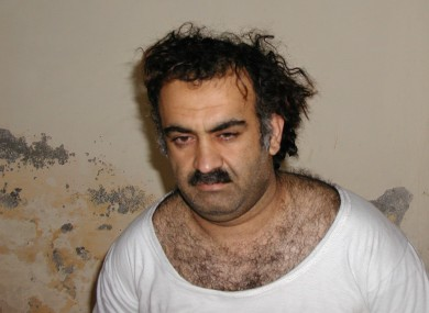 Khalid Sheikh Mohammed shortly after he was captured in Pakistan in 2003
