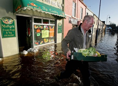 Flooding in Co Galway in 2009.