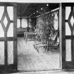 A part of one of the two 870 suites with a private promenade deck on board Titanic.