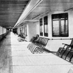 The promenade deck of the Titanic.