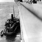This photo of the Titanic from onboard was taken by Jesuit cleric Father Frank Browne who sailed on the Southampton to Cobh leg - but, luckily for him, alighted at Cobh.