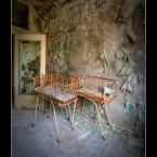 More baby cribs at the maternity ward at Pripyat hospital.