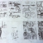 Sketching out thumbnails for the chapters... ©Alan Dunne