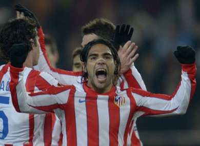 Radamel Falcao: will Atleti's marksman be celebrating again tonight?