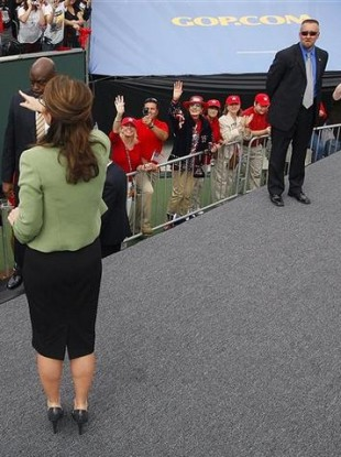 This 2008 photo of Sarah Palin has become embroiled in the investigation of Secret Service agent David Chaney.