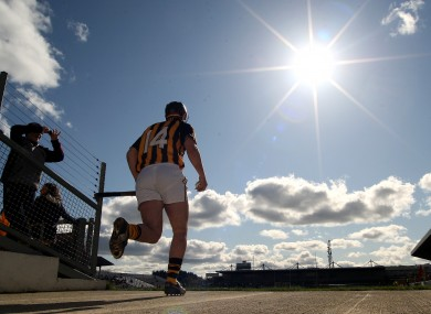 Eoin Larkin steps out into the sun.