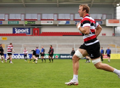 Stephen Ferris during Ulster training at Ravenhill earlier.