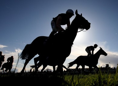 Riders at Fairyhouse yesterday.