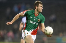 Out of action: Mayo's O'Shea sidelined for six weeks