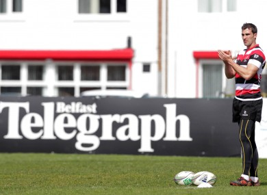 Ruan Pienaar at training in Ravenhill this week.