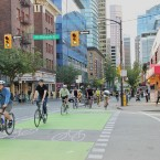 Vancouver's separated bike lanes have significantly increased bike riders (Image via Flickr/Paul Krueger)