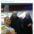 Cian Healy poses with nuns.