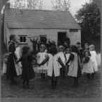 Children playing at a country school in County Monaghan, circa 1903. (Library of Congress, Prints & Photographs Division)