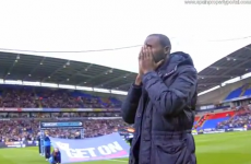 WATCH: Fabrice Muamba makes an emotional return to Bolton