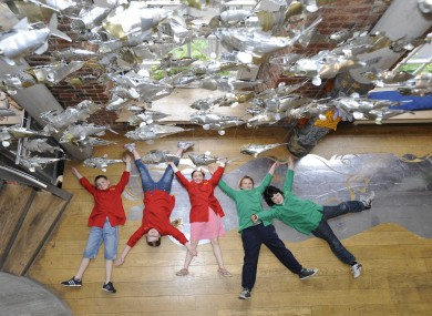 Children at the Awakening Curiosity art exhibition in Dublin today.
