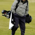Kenny Dalglish during a practise round at the Old Course at St Andrews prior to the Dunhill Links Championship.