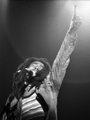 Bob Marley on stage in Paris in 1980, just two days before his Dublin concert