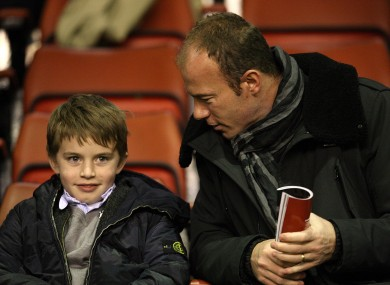 Alan Shearer in the stands at Anfield this season.