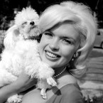 Jayne Mansfield with her dog Doctor in 1962 at a villa at Grottaferrata, near Rome, where she is was filming Panic Button. (Topham/Topham Picturepoint/Press Association Images)