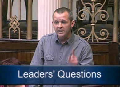 Richard Boyd-Barrett in the Dáil this morning