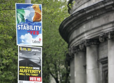 Referendum posters in central Dublin