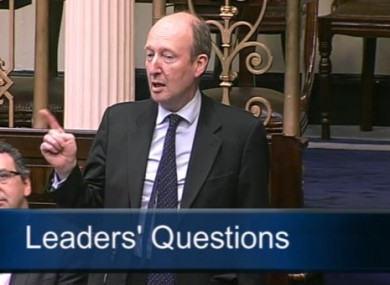 Shane Ross in the Dail