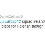 @DanielCollins85 points out the number of former League of Ireland players in the squad.