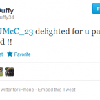 @ShaneDuffy34 congraulates James McClean on his inclusion. No mention of Seamus Coleman though.