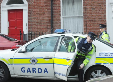 Gardaí arriving at the scene on Sherrard Street at the weekend