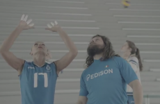 VIDEO: Castrogiovanni tries out for Olympic volleyball