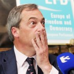 British MEP and leader of the UK Independence Party (UKIP), Nigel Farage pictured at the Europe for Freedom and Democracy press conference in the Shelbourne Hotel in Dublin, where they urged a NO vote in the upcoming referendum.