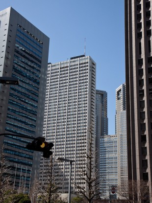 The Keio Plaza is among the skyscrapers in Shinjuku
