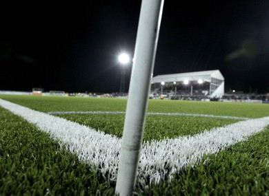 The infamous artificial surface in Oriel Park.