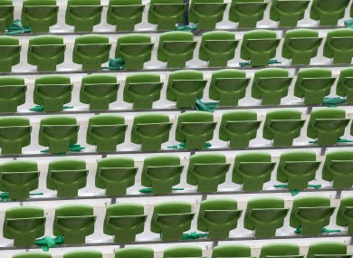 The Aviva stadium seats might host visitors from throughout Europe in eight years' time.