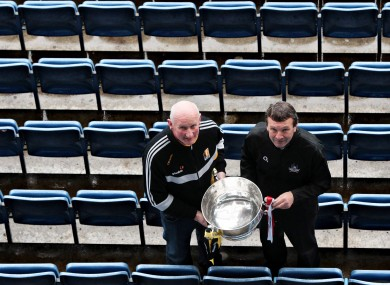Kilkenny hurling manager Brian Cody and Cork counterpart Jimmy Barry Murphy.