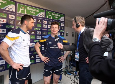 Out: Rob Kearney and Brian O'Driscoll won't feature against Glasgow tomorrow night.