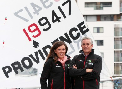 Olympic sailor Annalise Murphy and Tony O'Reilly, Chief Executive, Providence Resources