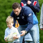 Fergus McFadden helps a Heineken Cup hopeful with his ball-carrying.