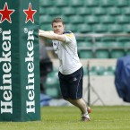 Brain O'Driscoll during the Leinster Captains run (Mandatory Credit INPHO/Billy Stickland).