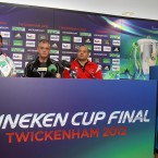 Johann Muller, head coach Brian McLaughlin and Rory Best (Mandatory Credit INPHO/Dan Sheridan).